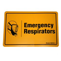 Label – Emergency Respirator