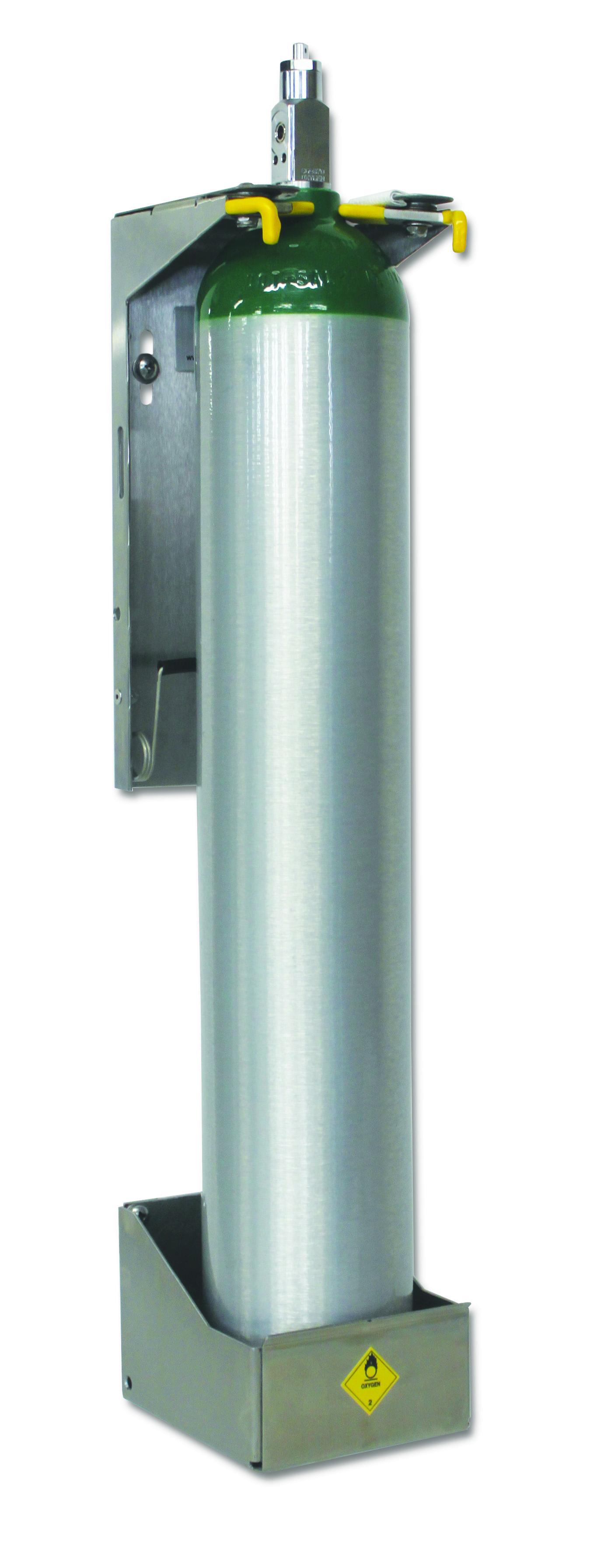 "Strapless ""E"" Cylinder Bracket for All-in-One Regulators"