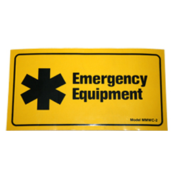 Cabinet Label – Emergency Equipment