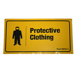 Cabinet Label – Protective Clothing