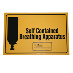 Cabinet Label – Self-Contained Breathing Apparatus