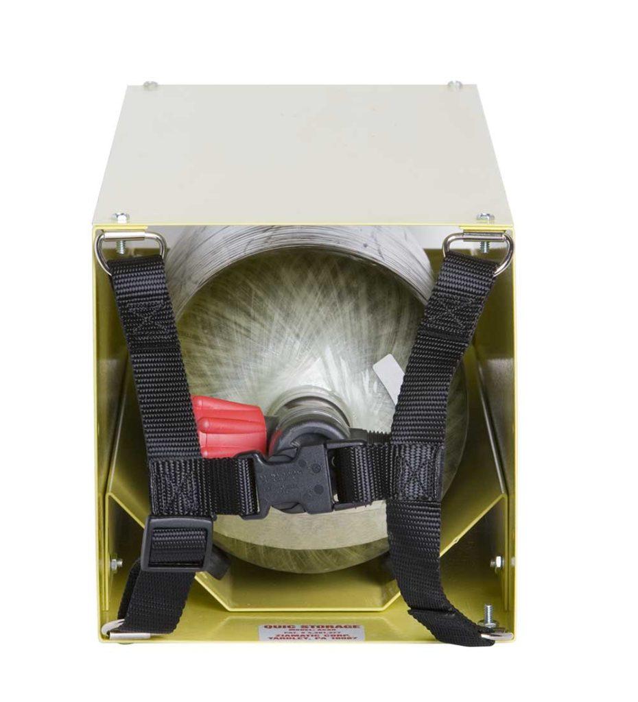 "Horizontal Storage Rack Complete - 6.1"" to 7.4"" Cylinders - Yellow"