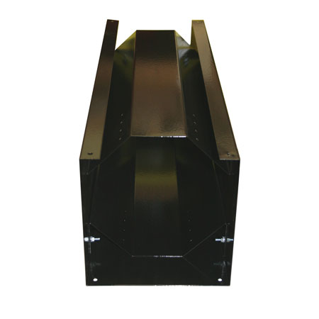"Vertical Storage Rack Less Top - 6.1"" to 7.4"" Cylinders - Black"