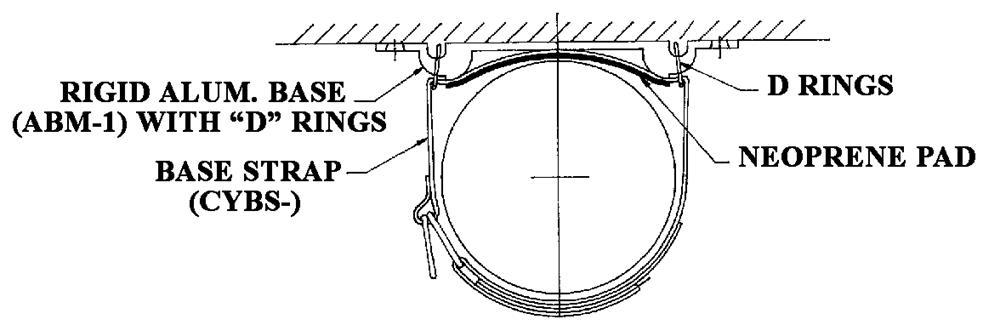 "4"" Base Strap w/ ABM-1 Extrusion"