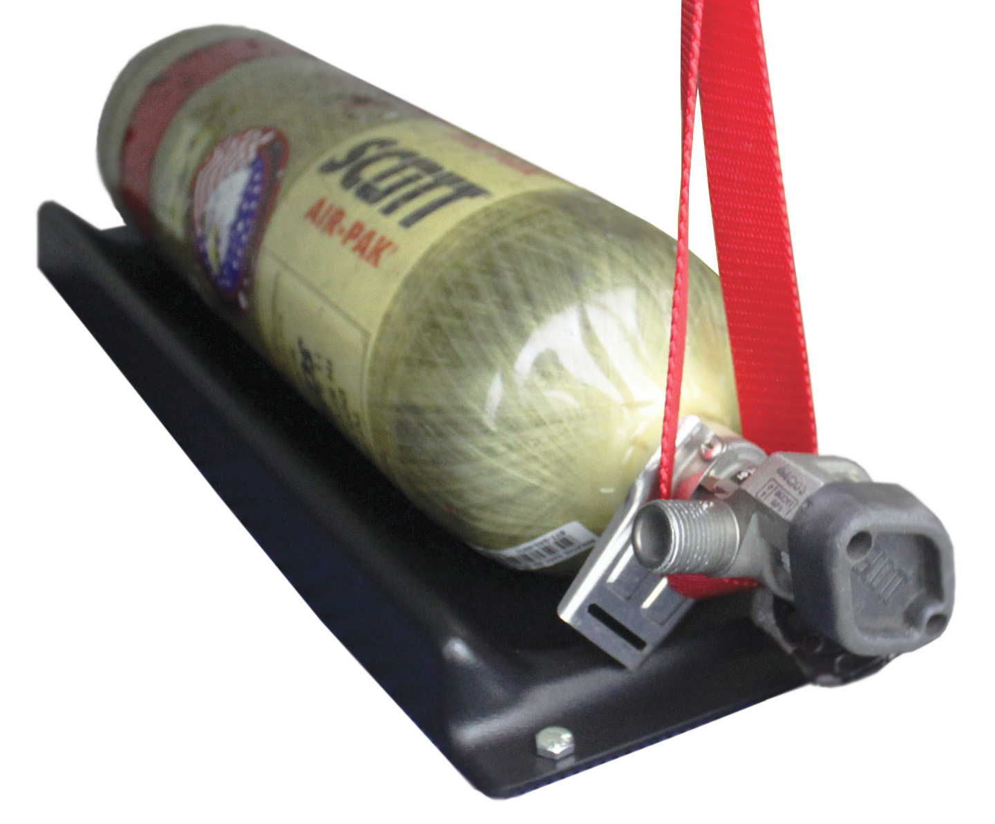 Plastic Air Cylinder & Extinguisher Cradle with Valve Strap