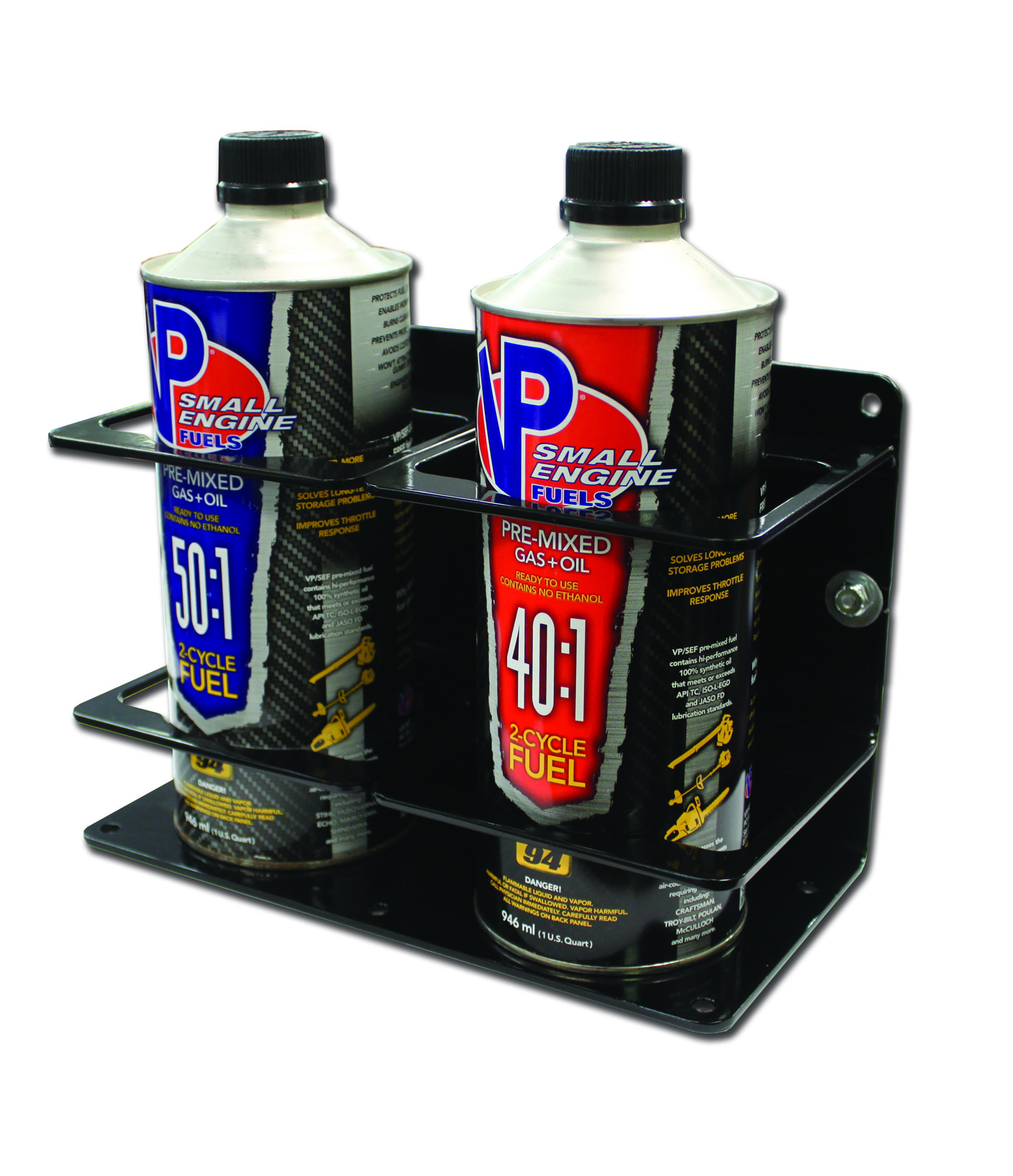 Double Premix/Bar Container Holder – Black